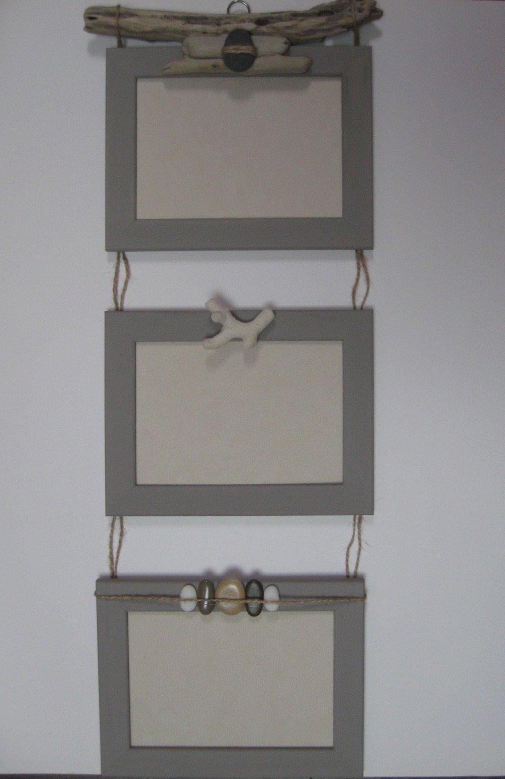 Cadres photos bois flotté 13 x 18 couleur taupe - SUR COMMANDE