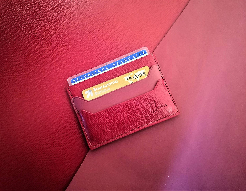 Porte carte pour CARTE D'IDENTITE FRANCAISE en cuir