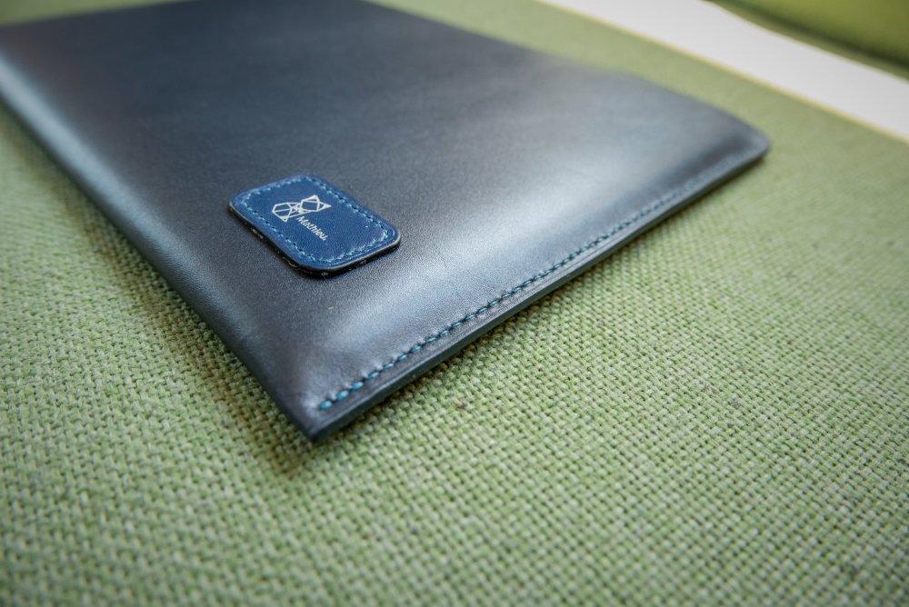 Housse pour Macbook en cuir