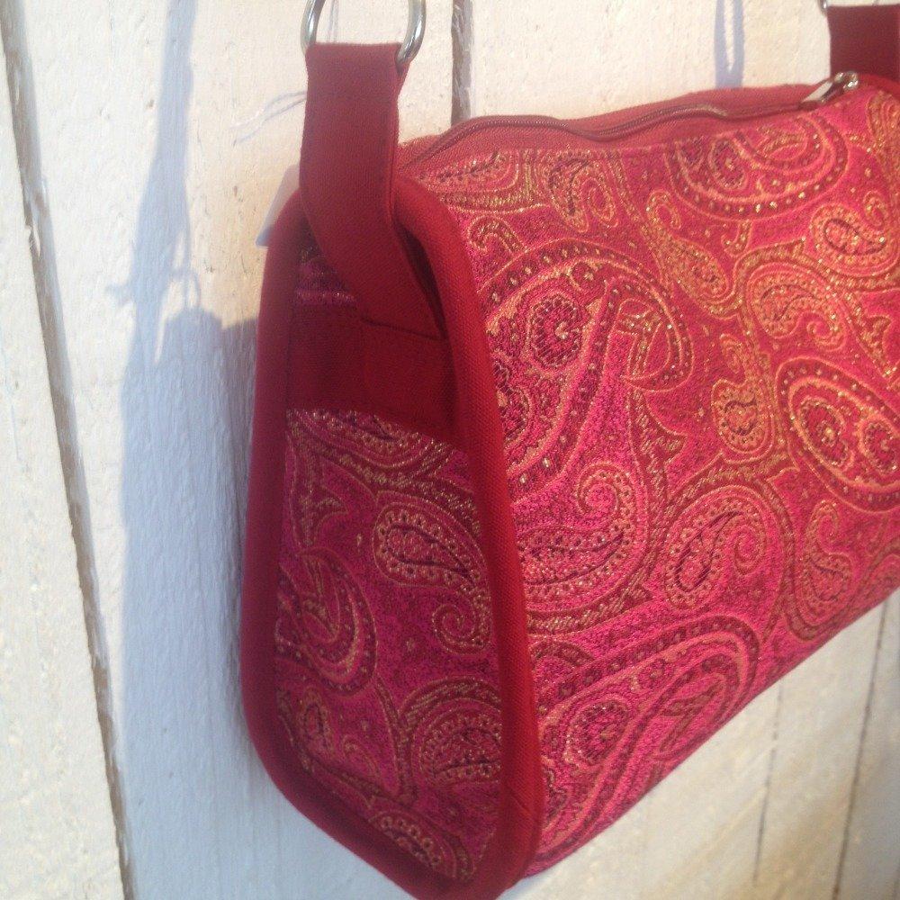 sac bandoulière rose indien
