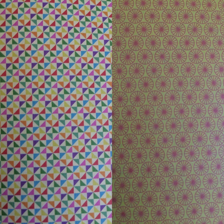 papier double face origami deux motifs