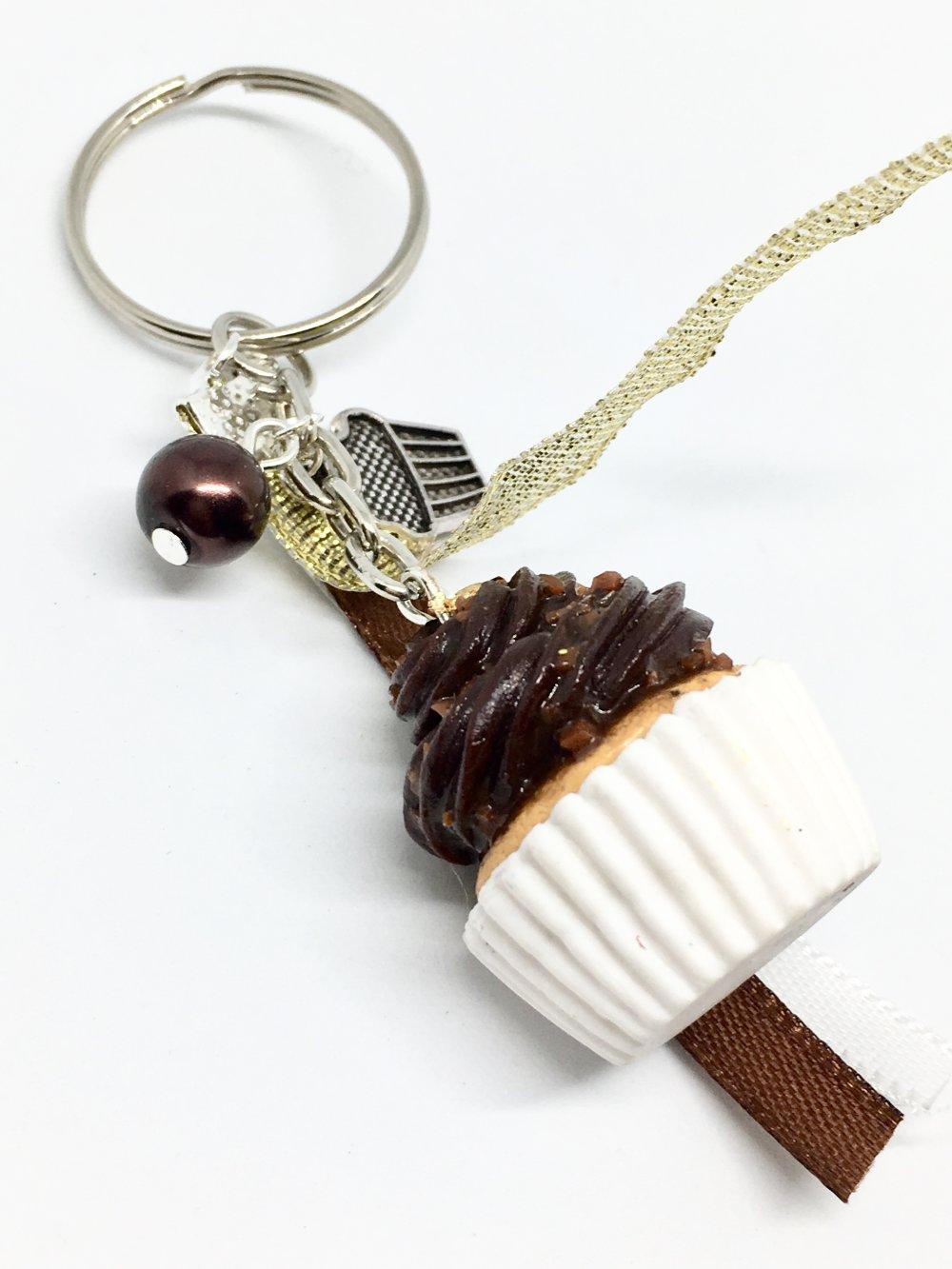 porte-clés cupcake chocolat