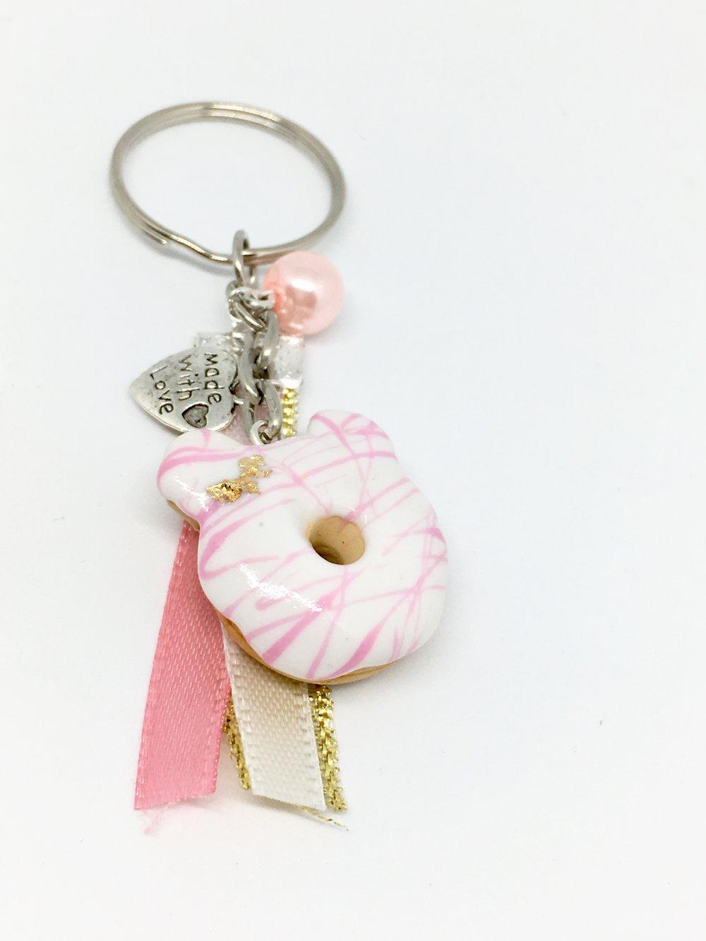 porte-clés donut ourson fraise