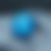 Bague réglable 18 mm en résine galaxy bleu océan