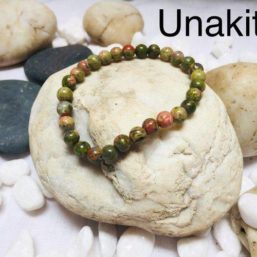 Bracelets  pierres naturelles  unakite