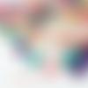10 perles étoiles de mer synthétique 20mm multicolore