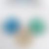 3 cabochons ronds en verre formes géométriques 25mm destockage