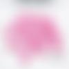 100 perles cœur rose bonbon en acrylique