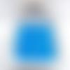 Perles miyuki cubes 4mm verre 20g bleu ciel transparent