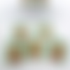 10 étiquettes cadeaux de noël rectangle rennes emballage cadeau 5x4cm