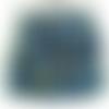 50 perles rondelles à facettes en verre 4mm bleu vert