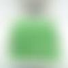 100 perles rondelles à facettes en verre 4mm vert