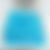 100 perles rondelles à facettes en verre 4mm bleu ciel