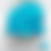 100 perles cœur turquoise acrylique