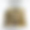 100 perles rondes intercalaires texturées stardust en laiton 4mm tricolore