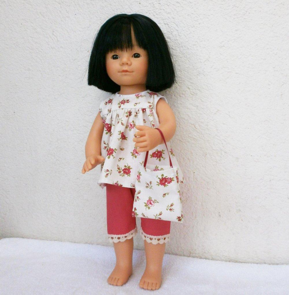 Ensemble rose, habits pour poupée Marieta