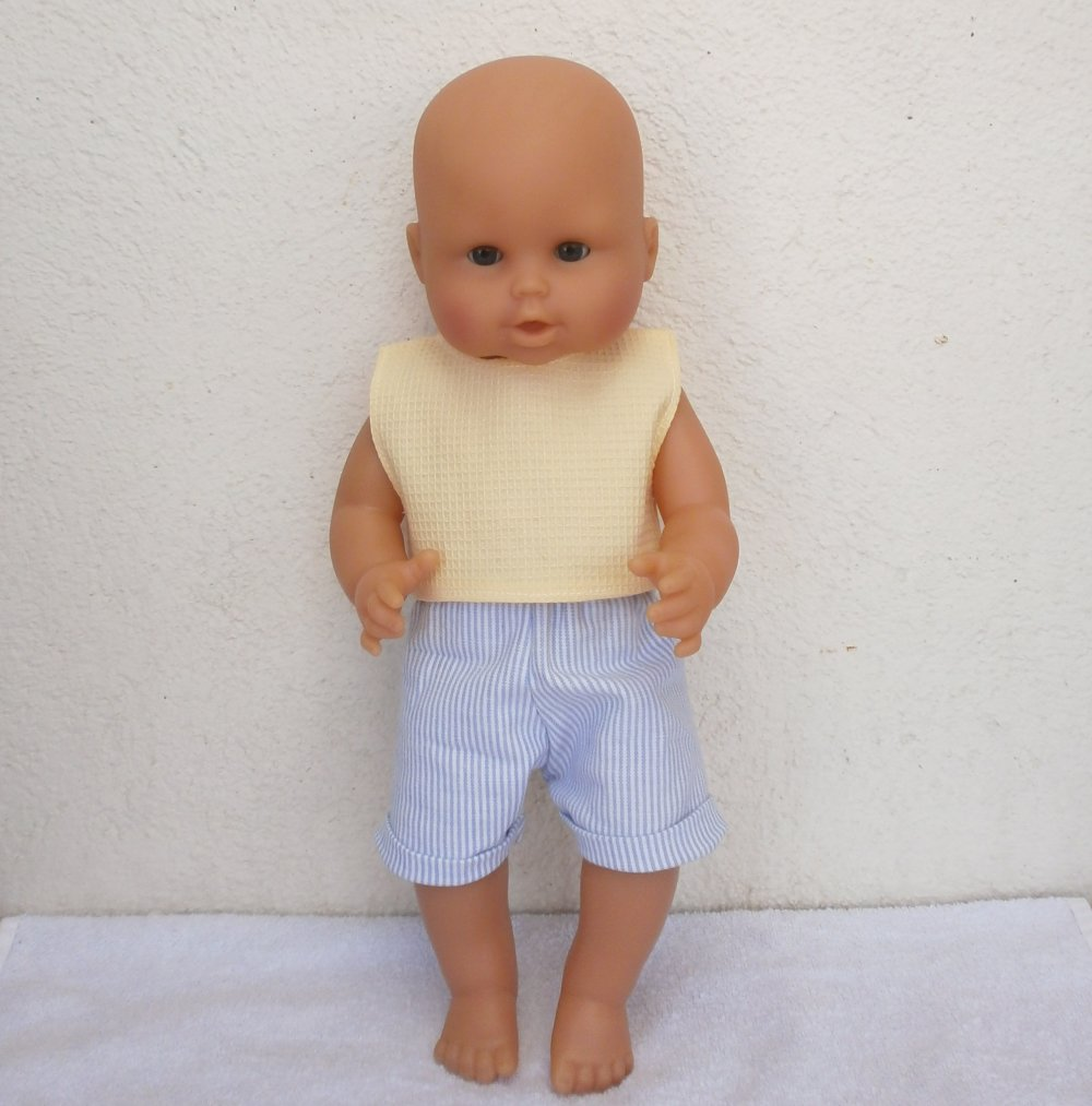 Vêtements poupon 36 cm - Short et T-Shirt