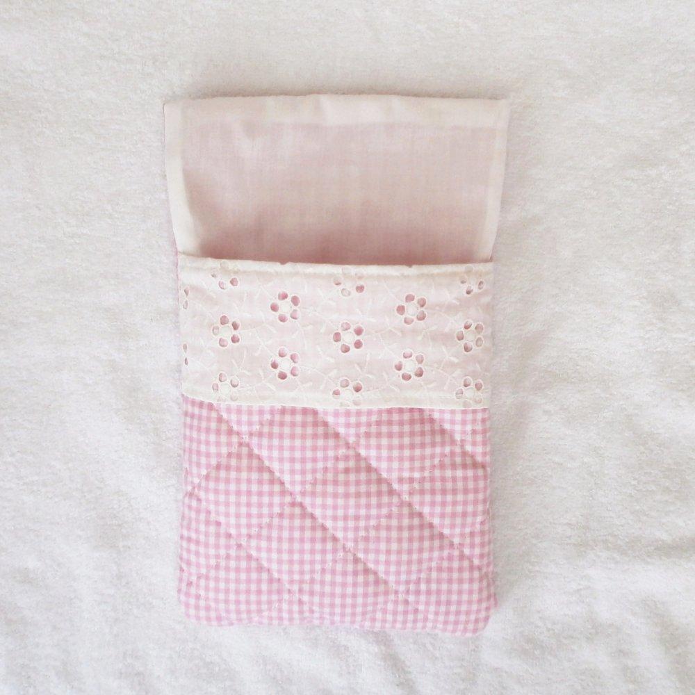 Nid d'Ange, sac de couchage pour mini Calin, vichy rose