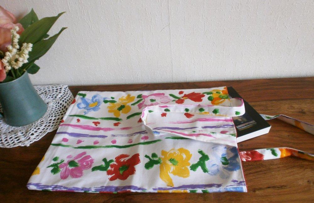 """Tote bag """"fleurs peintes"""""""