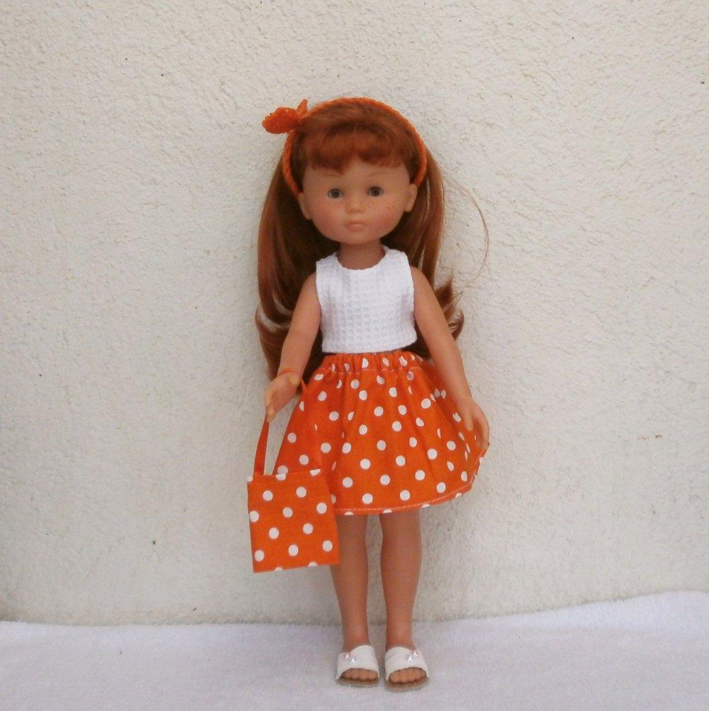 Habits pour les Chéries : ensemble orange pour Les Chéries