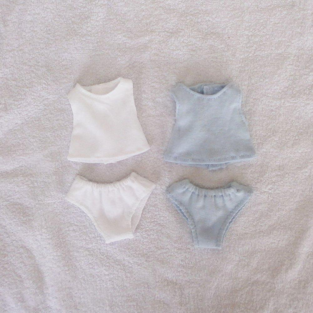 Habits Les Chéries : lot de sous-vêtements bleu/blanc
