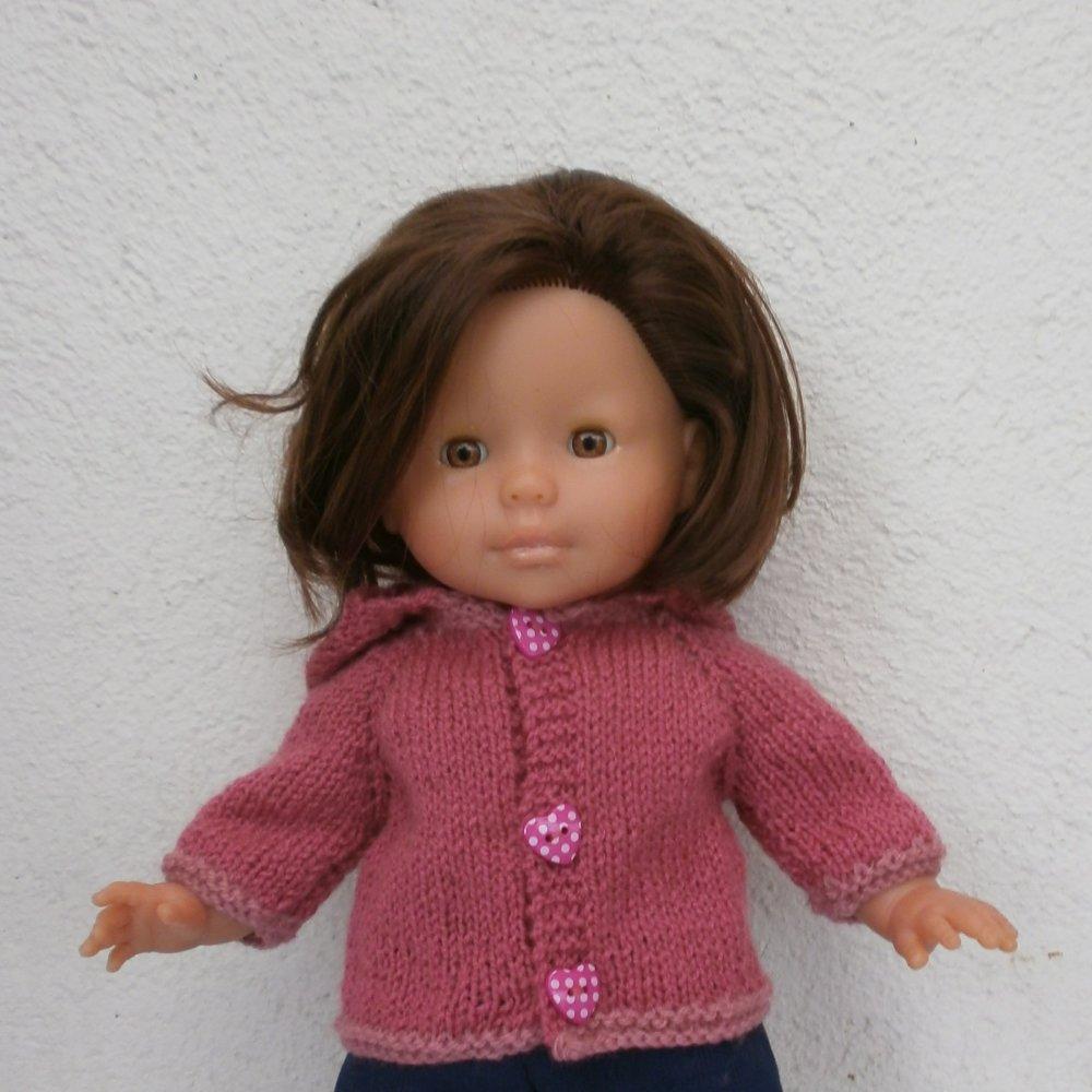Vêtements pour Ma Corolle 36 cm - Veste à capuche rose