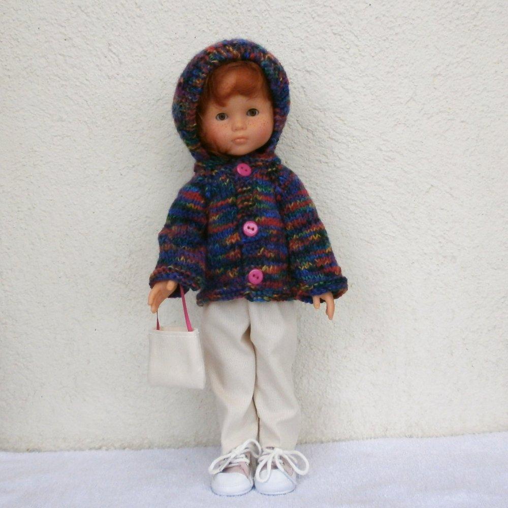 Vêtements poupée 32 cm / 33 cm, tenue d'hiver multicolore