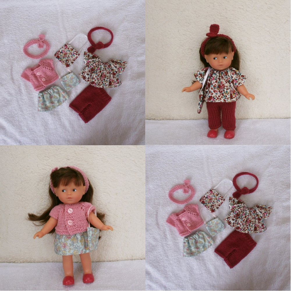 Vêtements pour mini Corolline : assortiment fleuri rose