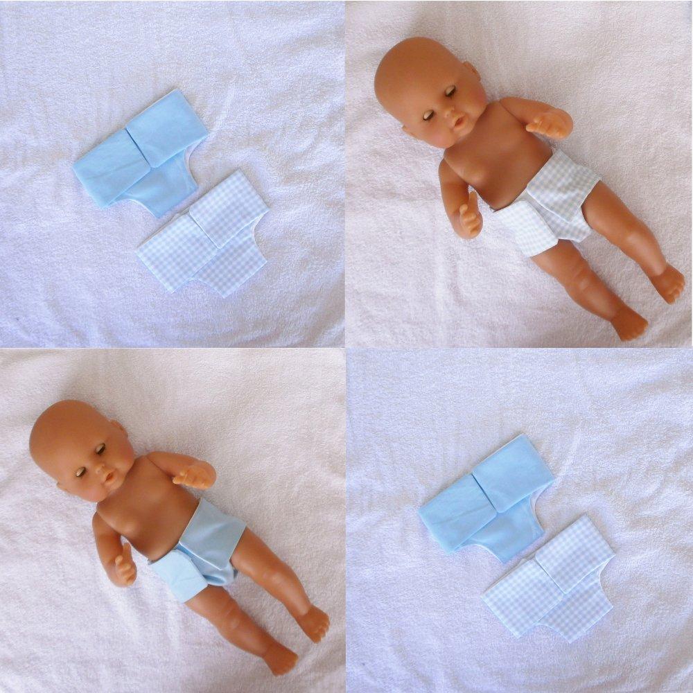 Habits poupon 36 cm corps vinyle - Couches bleues