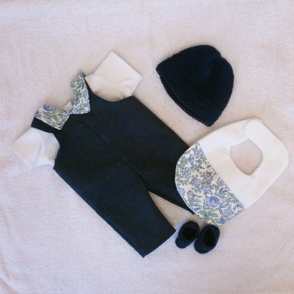 Vêtements pour poupon 30 cm - ensemble salopette