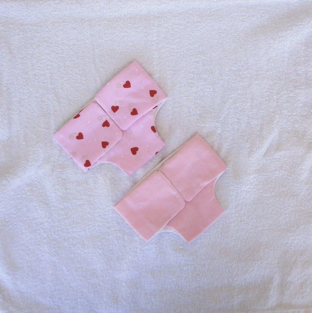 Habits poupon 36 cm corps vinyle - Lot de 2 couches rose