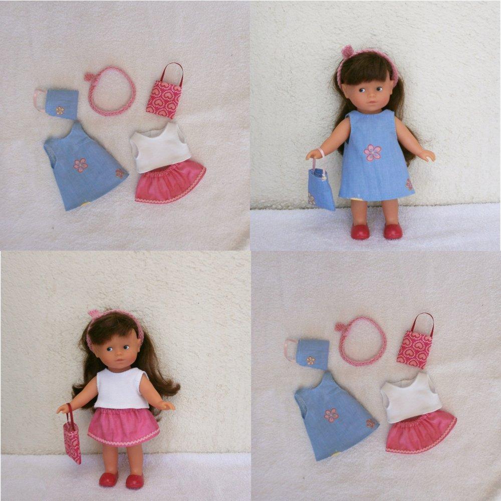 Vêtements pour mini Corolline : lot de deux tenues (bleu/rose)