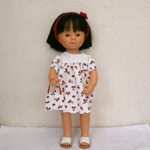Habits poupée marieta (35 cm) : robe fruits rouges