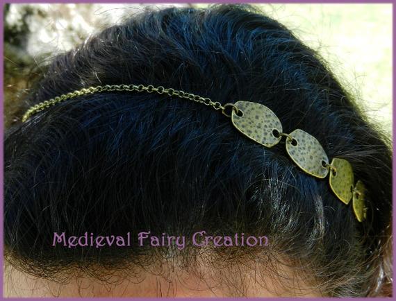 "Headband / serre tête ""Pieces de métal"" laiton"