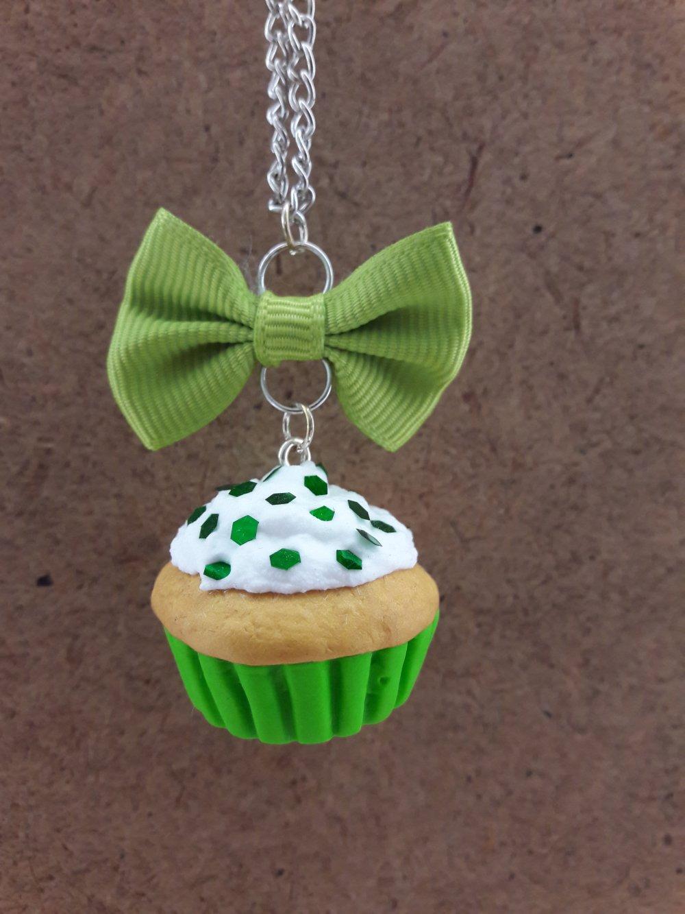 Sautoir Cupcake vert