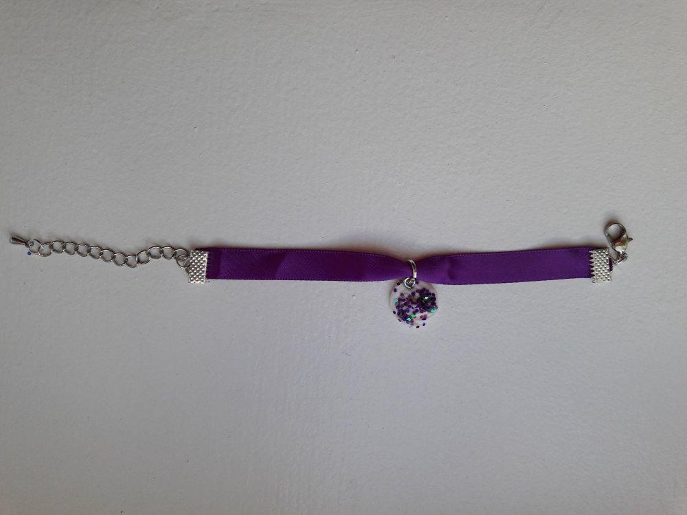 Bracelet chantilly violet