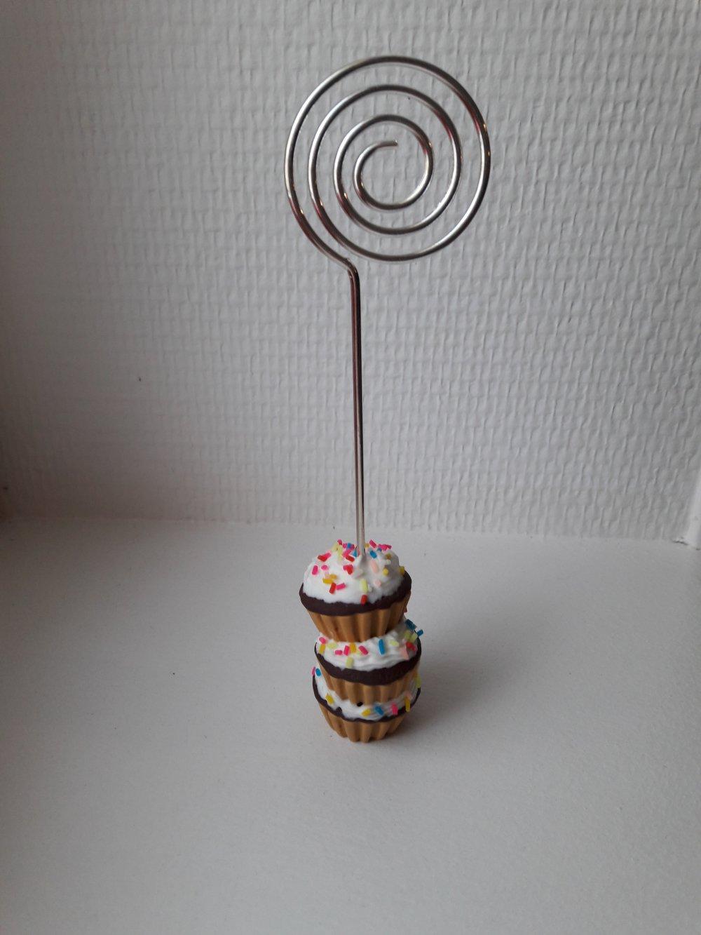 Porte photo cupcakes