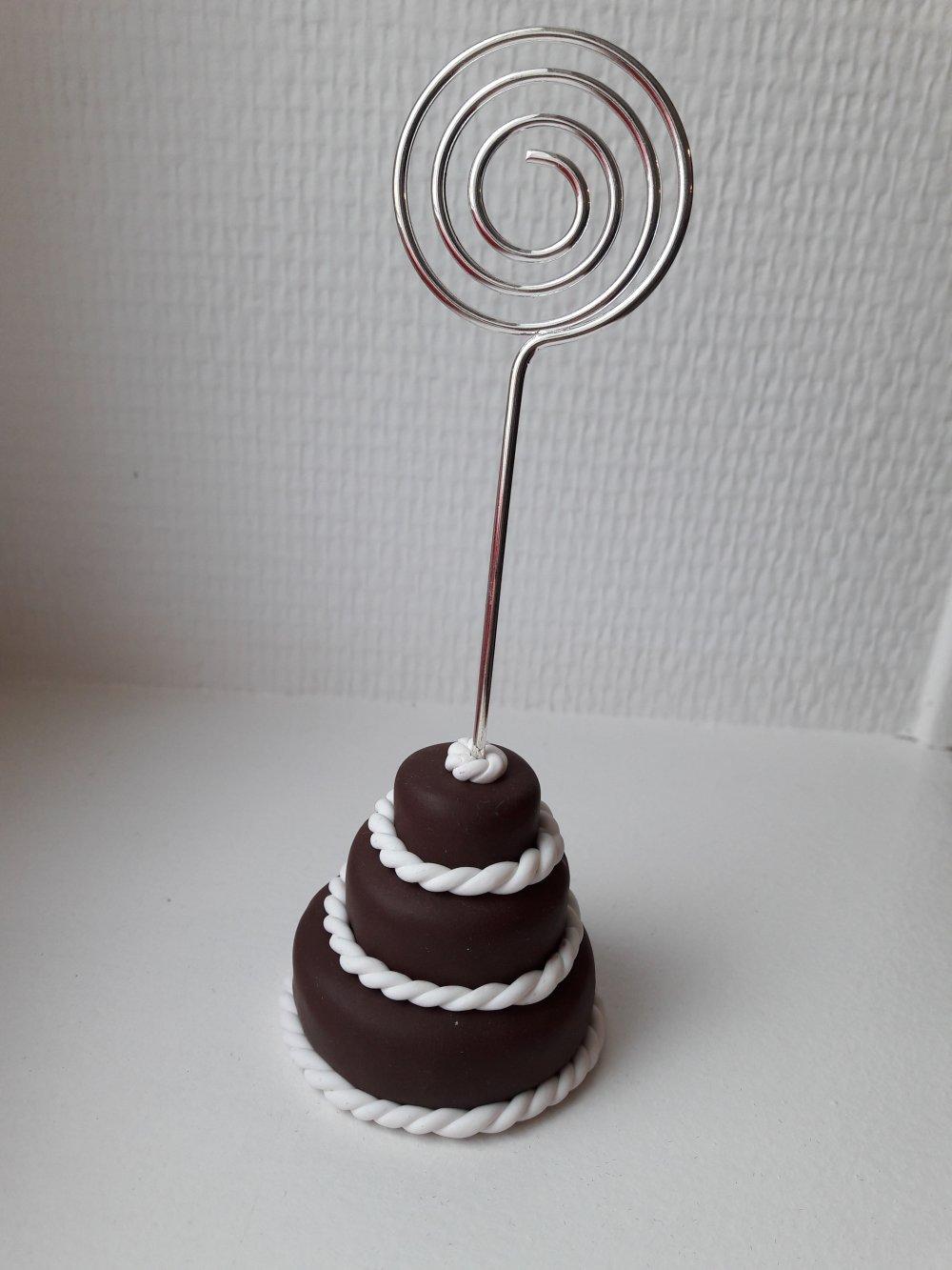 Porte photo gâteaux 3 étages chocolat
