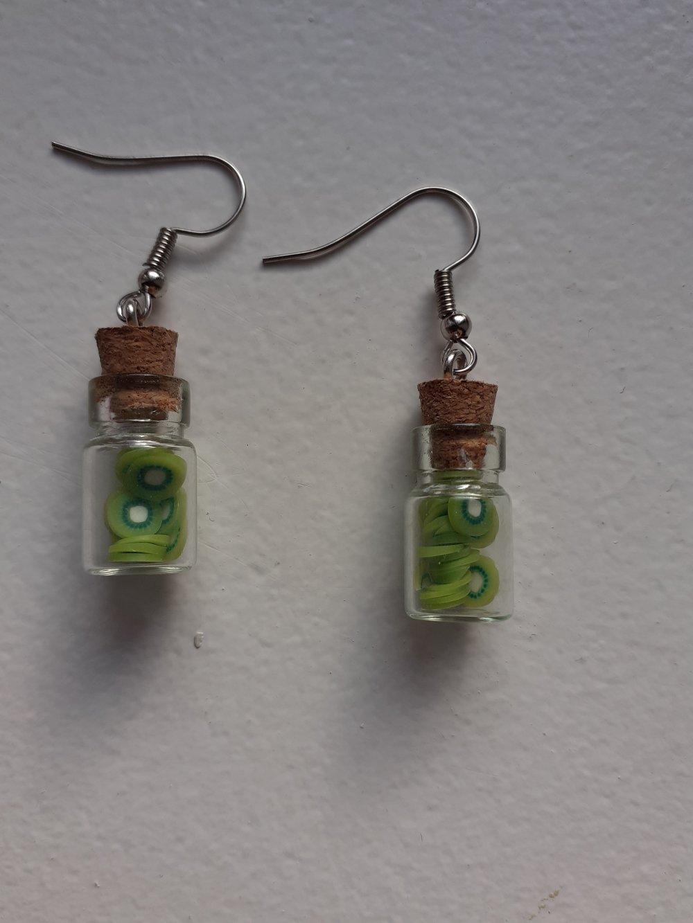 Boucles d'oreilles kiwi