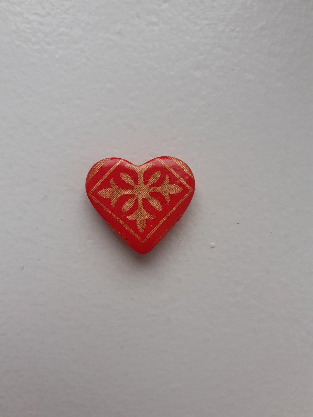 Magnet cœur rouge