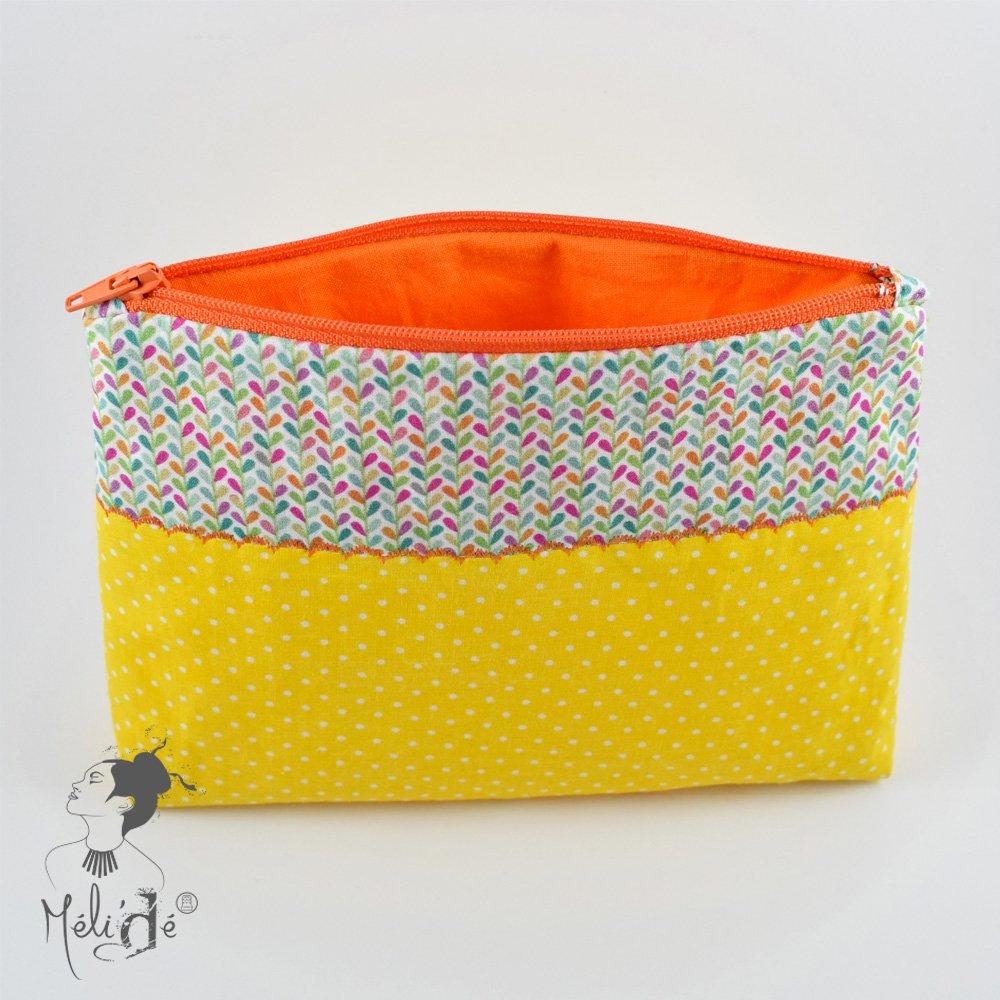 Trousse jaune et orange