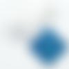 1 cabochon en résine - 25 mm - bleu