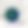 1 pendentif en résine forme donuts - 25 mm - façon pétri - ton bleu