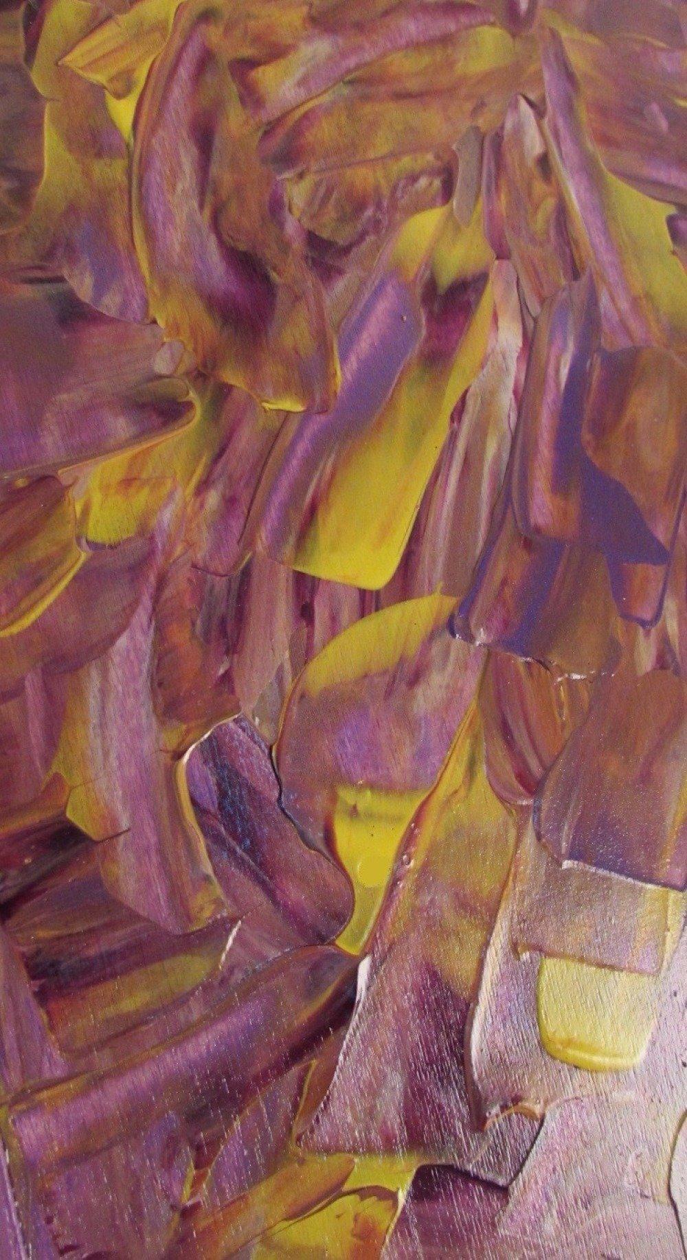 Origninale Boite à Clés Décoration murale avec peinture acrylique travail sculpté au couteau