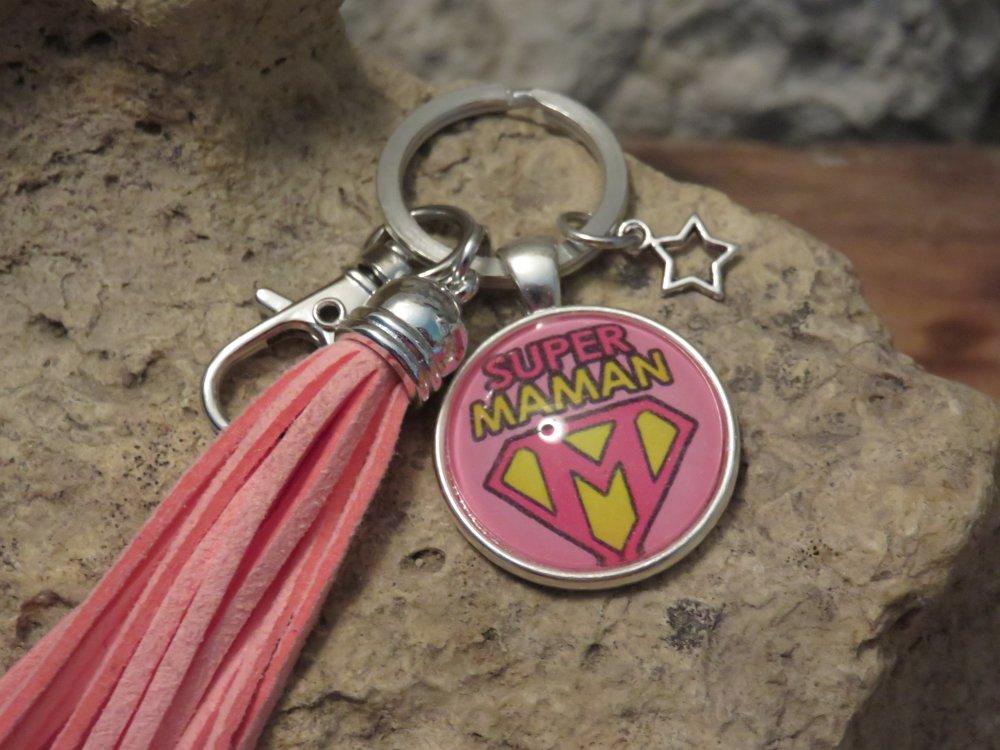 """Porte clés """"collection SUPER MAMAN"""""""