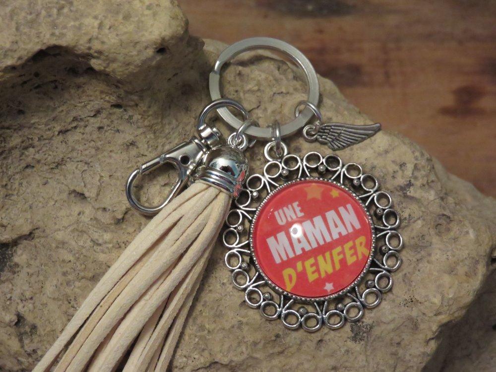 """Porte clés """"collection MAMAN D'ENFER"""""""