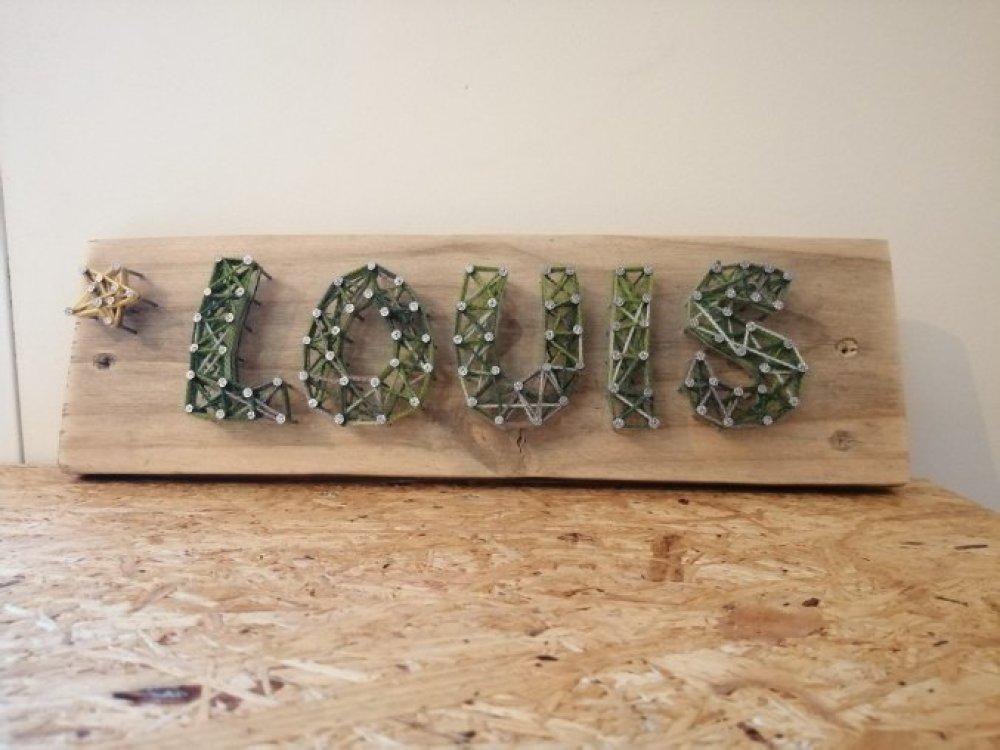 Louis string art vert Bois recyclé
