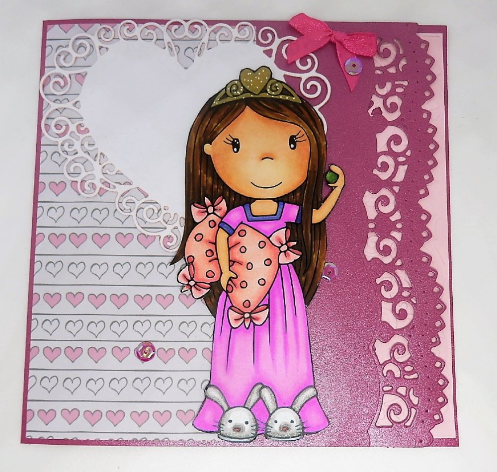 Carte happy birthday princesse pour anniversaire