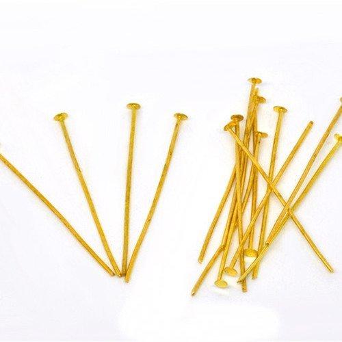 Lot 450 tige clous tete plate support breloque doré tete anneaux tige clou
