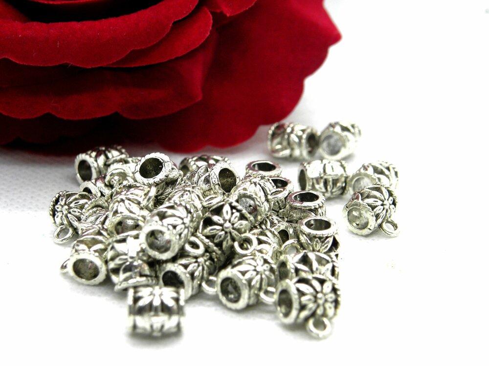 Bélières pendentifs, connecteur bélière pendentif, connecteurs bélière, Bélières gravées, bélière bombées, bélière tonneau, bélière tube